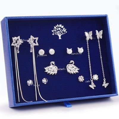Sterling Silver Classic Monday To Sunday Daily Earrings Set