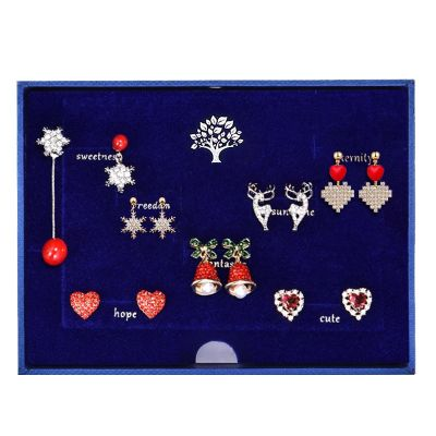 Sterling Silver Merry Christmas Design Monday To Sunday Daily Earrings Set