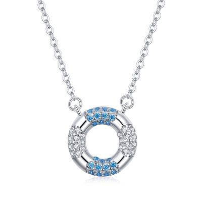 Sterling Silver Gorgeous Round Cut Necklace