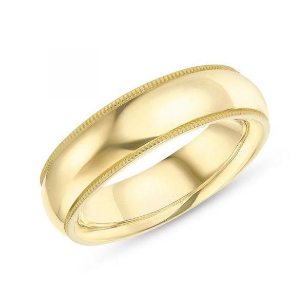 Sterling Silver Classic Design Men's Wedding Band